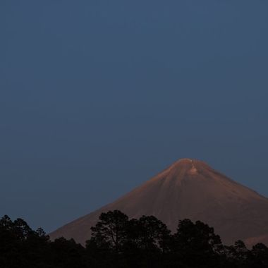 Full Moon and  Volcano