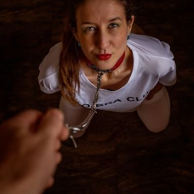 The beautiful deviant in white. Her dark side of life!
