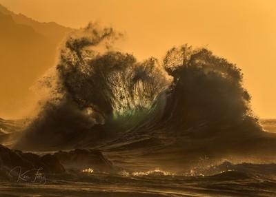 Golden Kauaiian Clapotis Wave 3