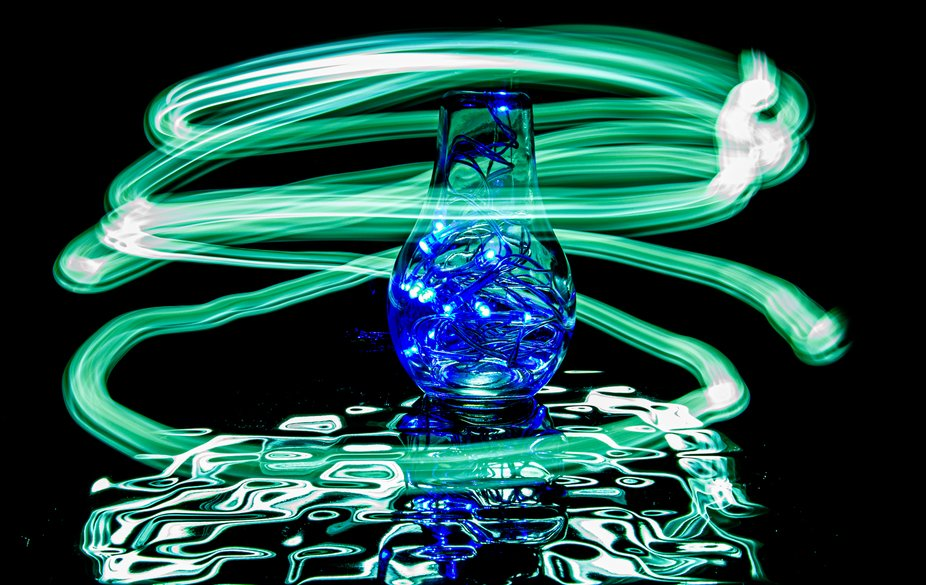 Light Painting with a bulb