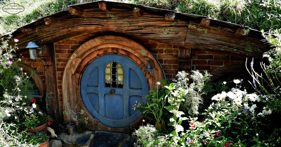 Hobbiton house A must see place to go and see in New Zealand.