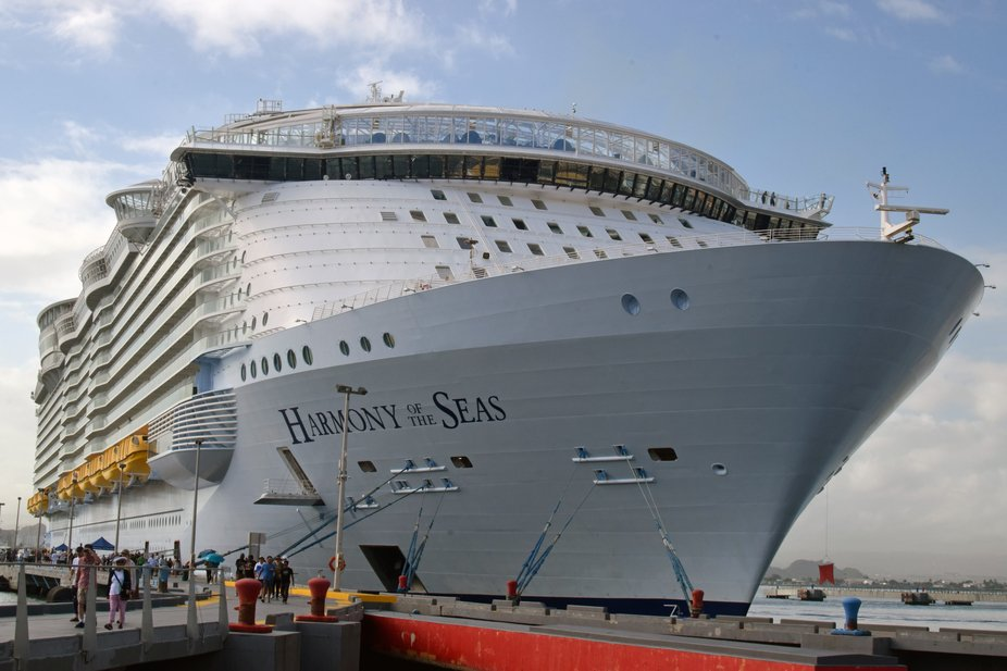 Harmony of the seas, berthed at San Juan, Puerto Rico.
