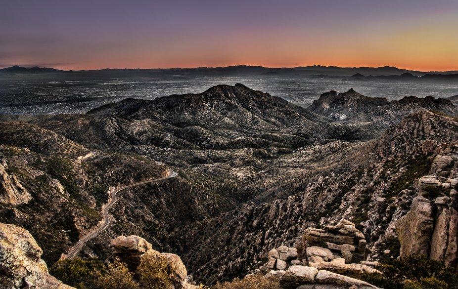 Mount Lemmon Highway Landscape
