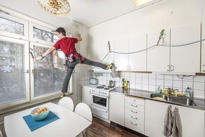 Rock climber in self quarantine