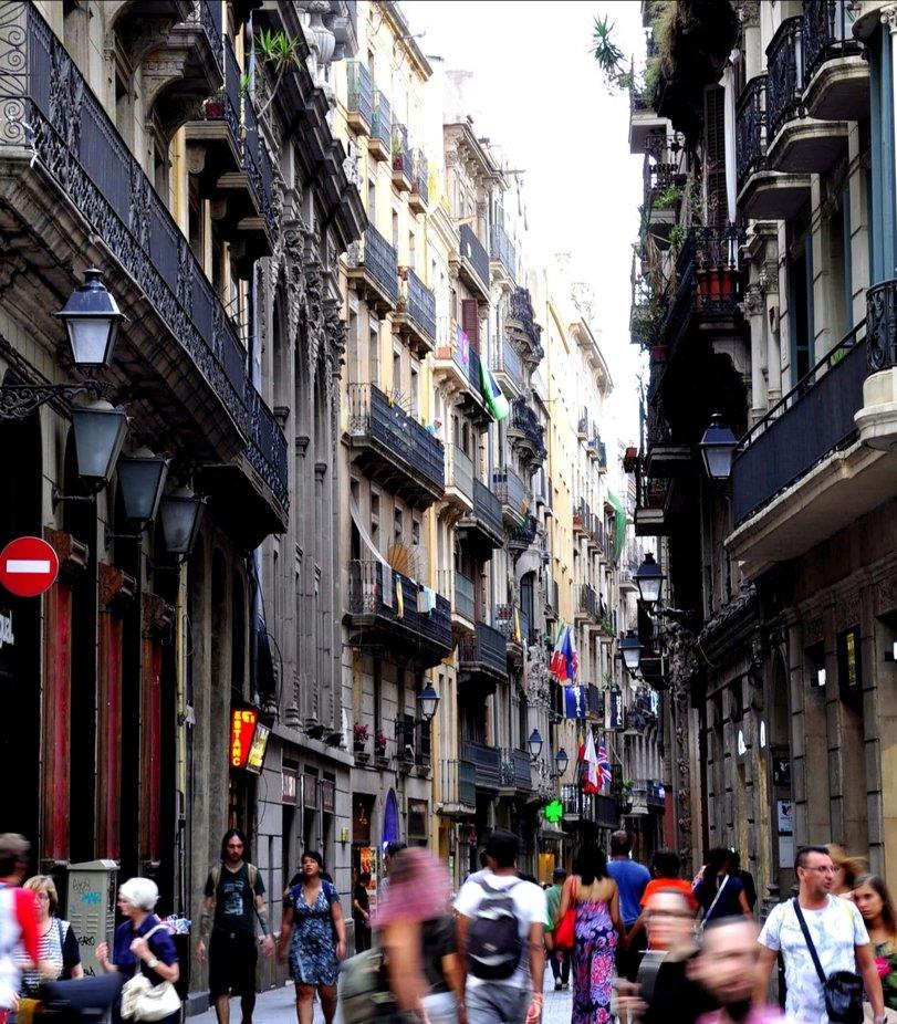 In den Straßen von Barcelona