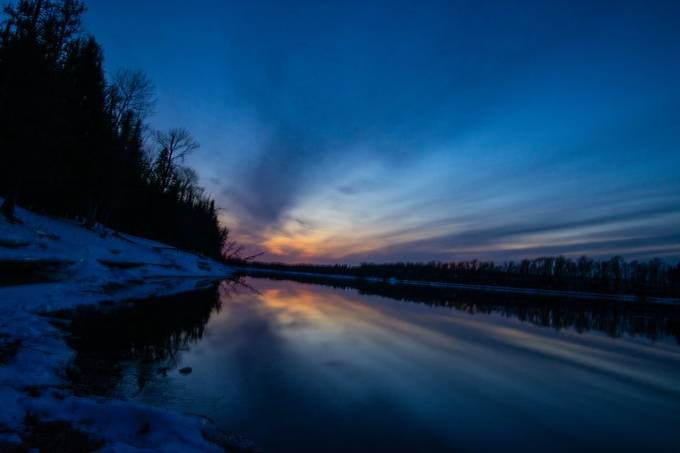 A sunset from Ron Hall Landing on Rainy River