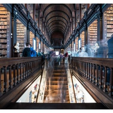 Trinity College Library - The lense open for 4 seconds.