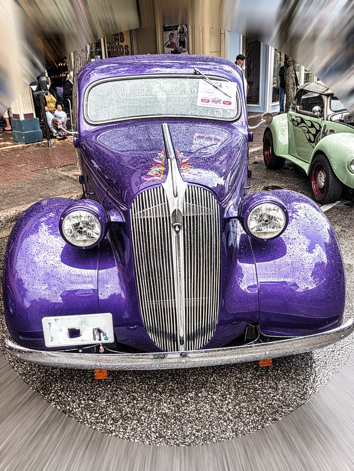 1937 Plymouth at an Auto Show.