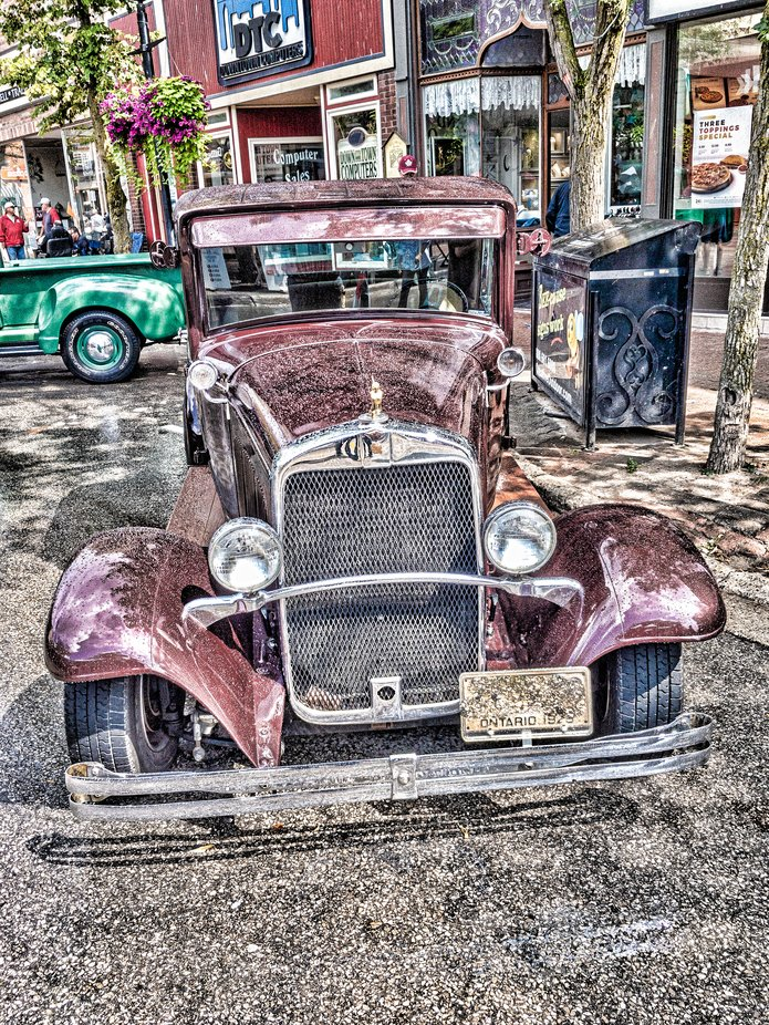 Old Clunker at car show.