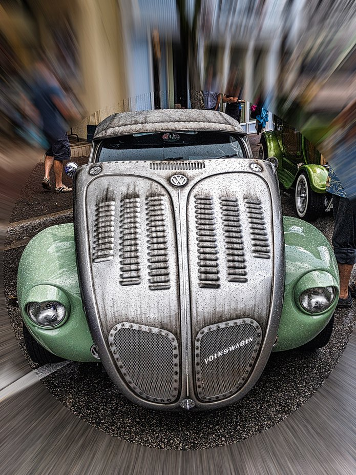 Unusual volkswagen at 2019 Auto Show.