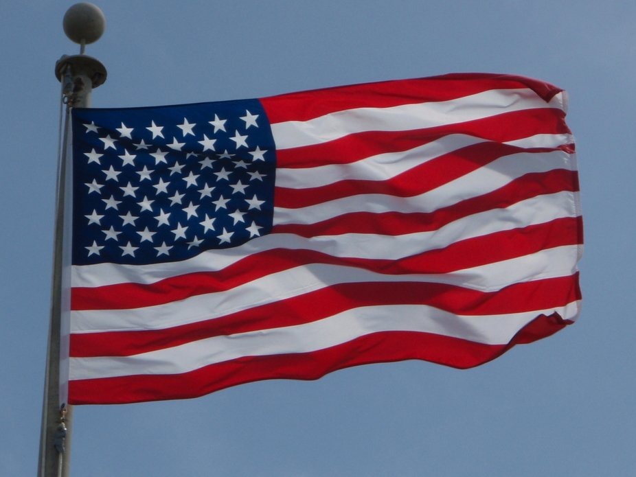 Stars and Stripes Waving
