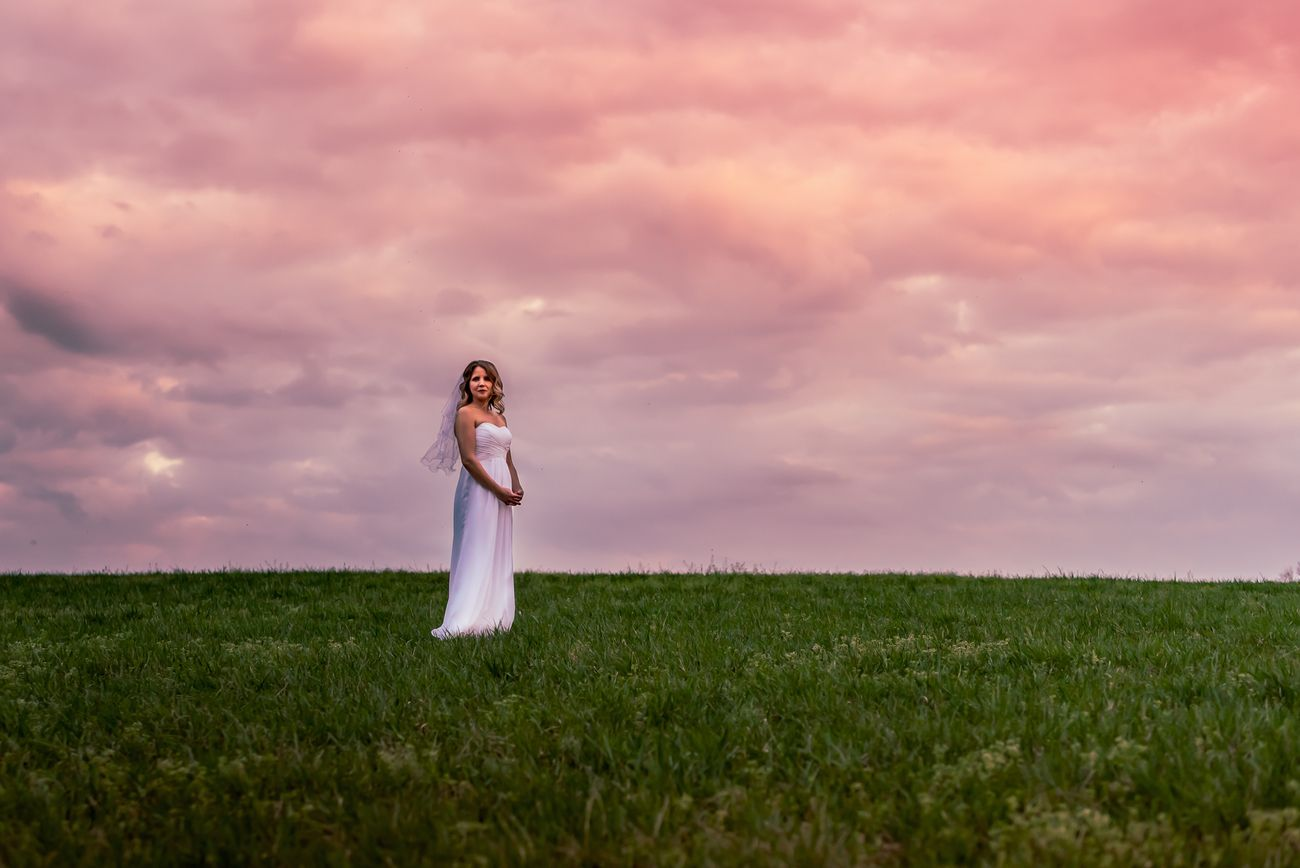 I've taken a few photos in this field... but to have the chance to photograph a bride was priceless.