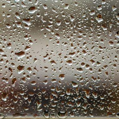 rain drops on my window in Spain