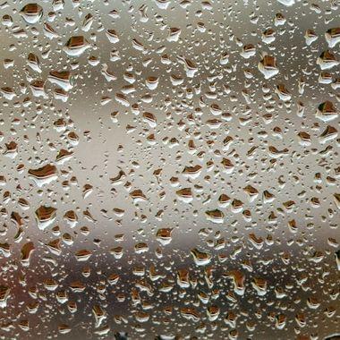 rain drops on my window in Marbella, Spain