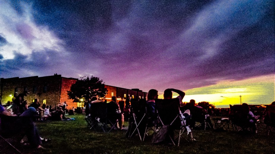 Concert on the lawn at the distillery