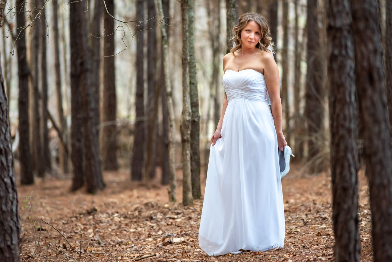 Bridal Portraits in a forest. When you have these ideas in your head for a long period of time and you finally get to snap the photo.