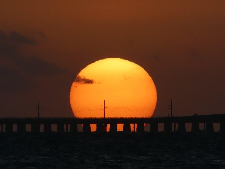 Sunset Over 7 mile Bridge in The Keys!♥️ lol