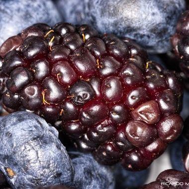 Black an blue berries