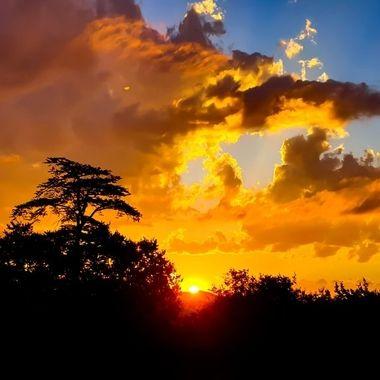 Sun Set day 1 of  lock down 2020, Johannesburg, South Africa