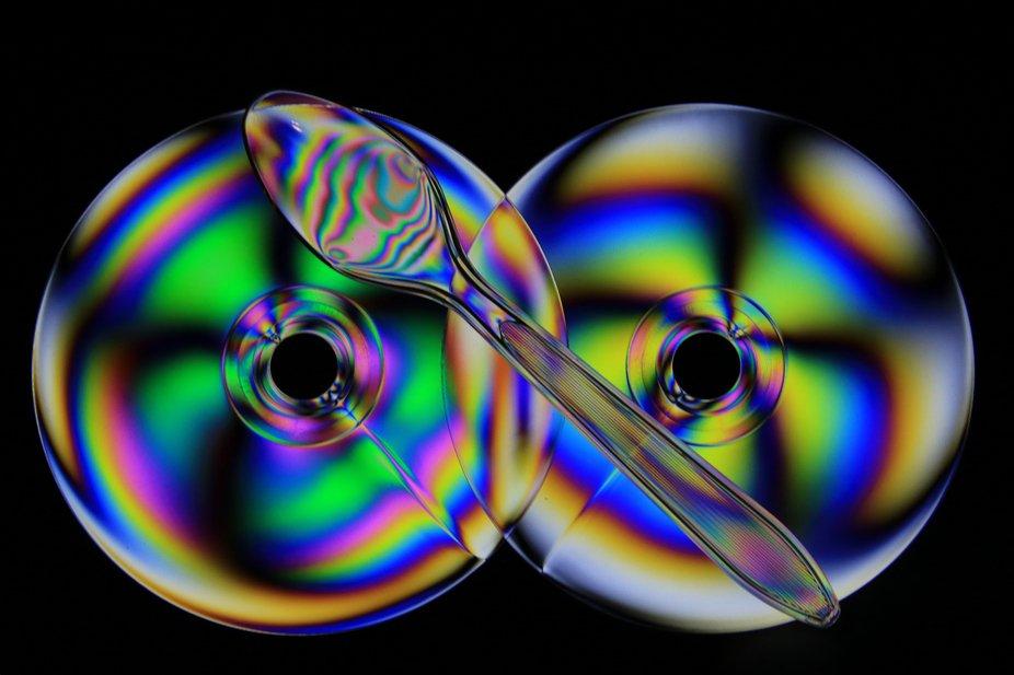 Birefringence Plastic Spoon & Discs