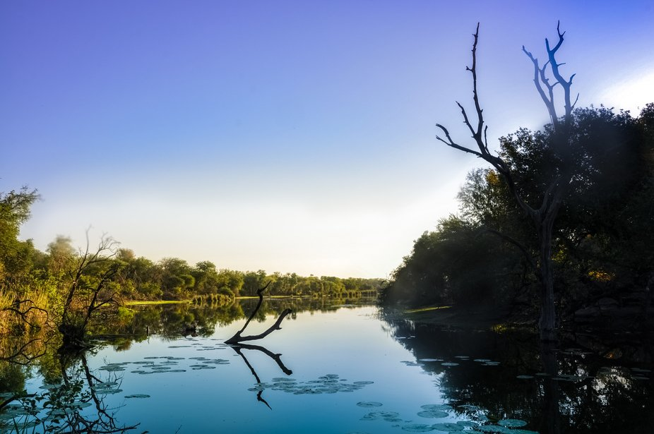 Taken at Lake Panic in the Kruger National Park, the serenity and peacefulness contrast with its ...
