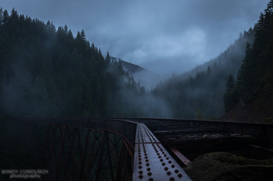This old, broken train trestle (built in the early 1900's) adds some beautiful architecture to ...