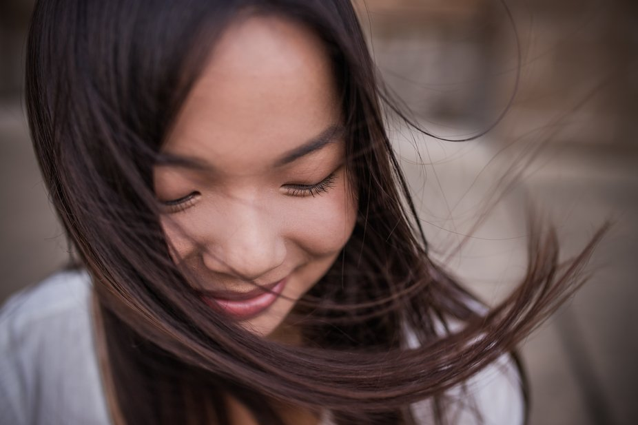 The wind was blowing her hair just right, I told her to hold still and I took a dozen gorgeous pi...