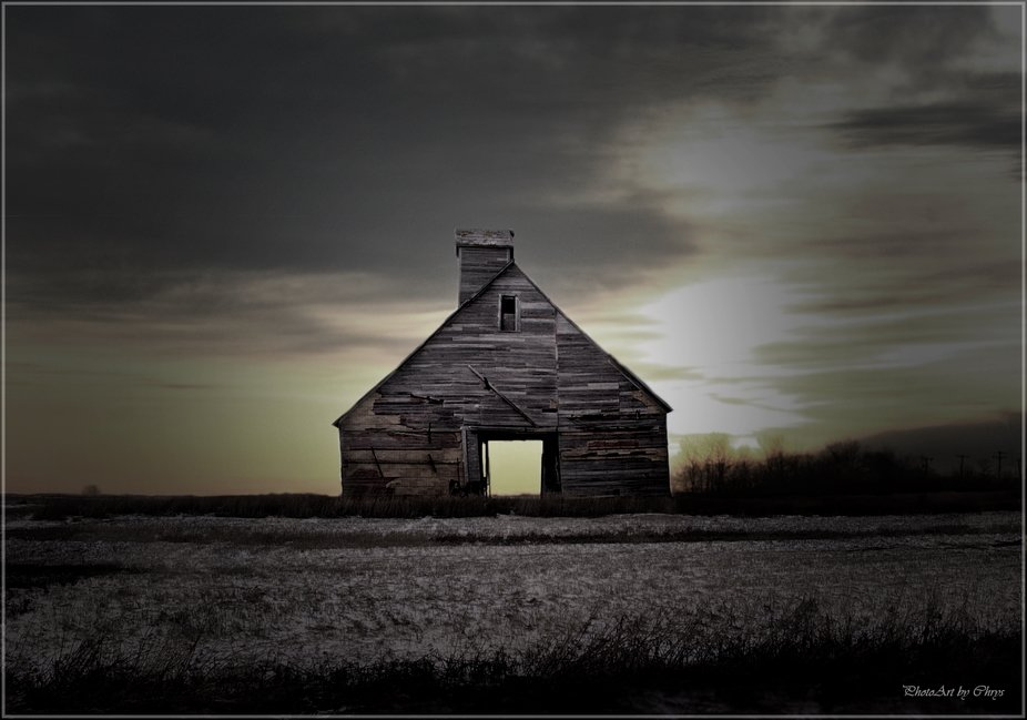 Abandoned Stable just outside Wildrose, ND