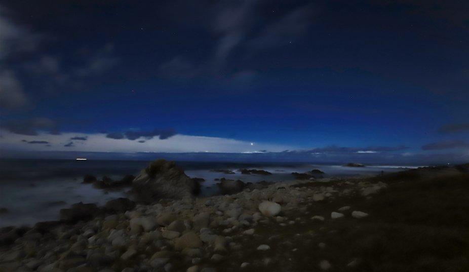 Moonlit Shores, along Monterey Bay