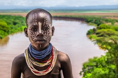 Girl of the Kara Tribe