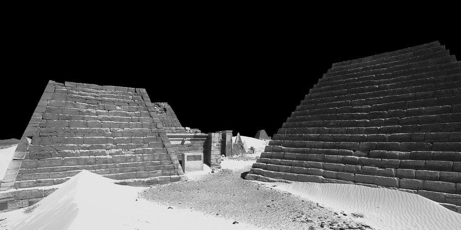 Ancient Nubian pyramids of Meroe in Sudan