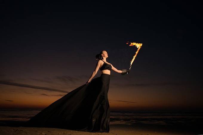 Sunset fire shoot.  20200325 132