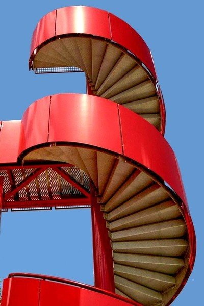 Red staircases