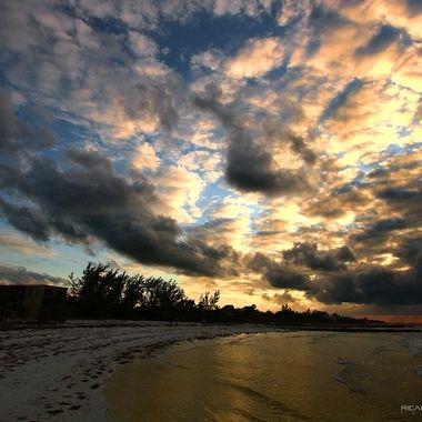 Sunset at Isla Holbox, Quintana Roo, México