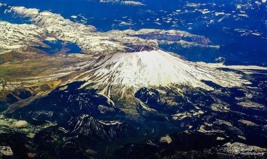 Mount St. Helen's looking NE from 24,000' on a return flight from Arizona...Wha...