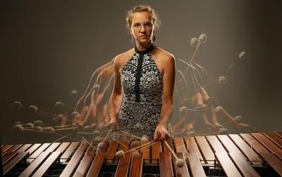 Percussionist Rachel Thomas