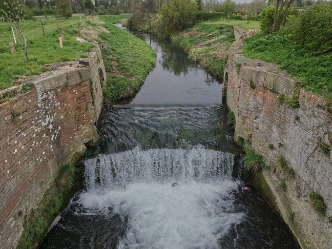 When nature takes over. Old Lock on ghe Louth Canal, now reverted back to it old Chalkstream self.