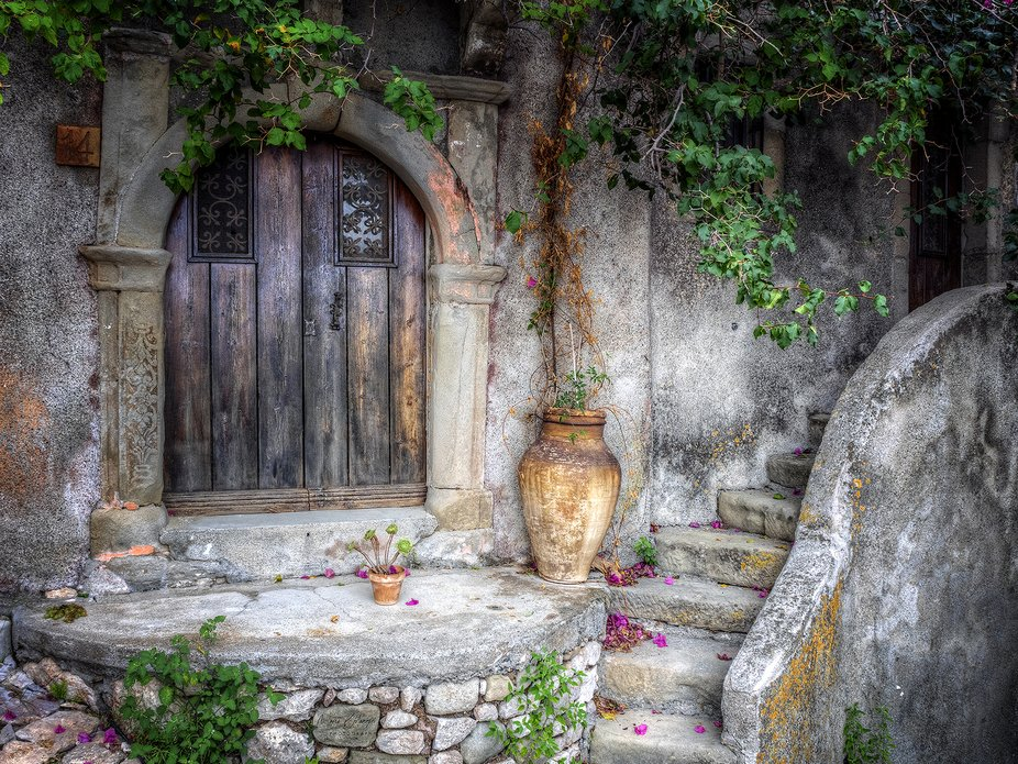 A lovely corner of the ancient village Forza D'Agro', Sicily.
