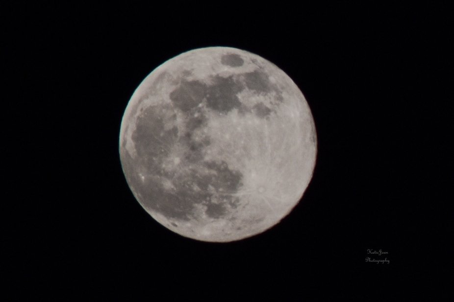 Up close view of the moon