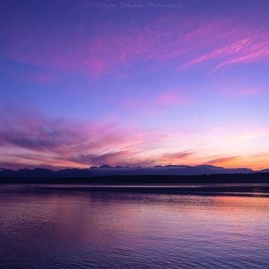 Sunset with the Olympic Mountains