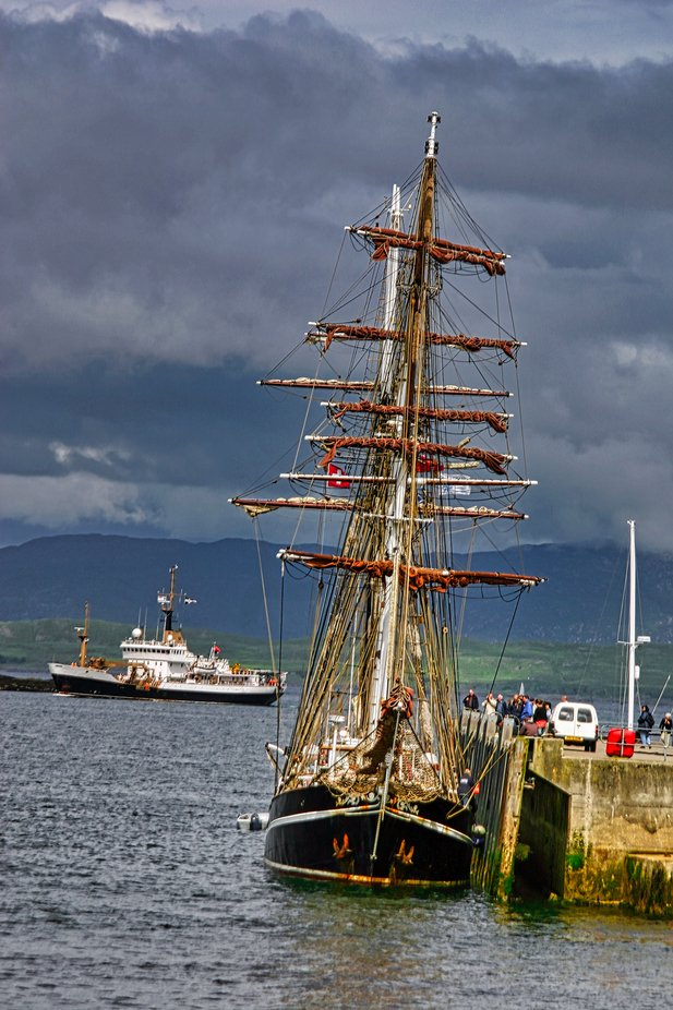 Tallship in Oban Scotland;