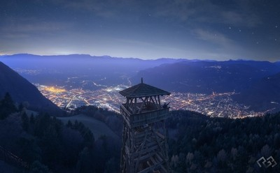 Insane lookout Tower over the city