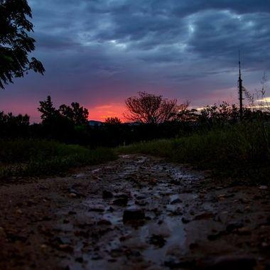 Sun Set day 9 lock down 2020, Johannesburg, South Africa