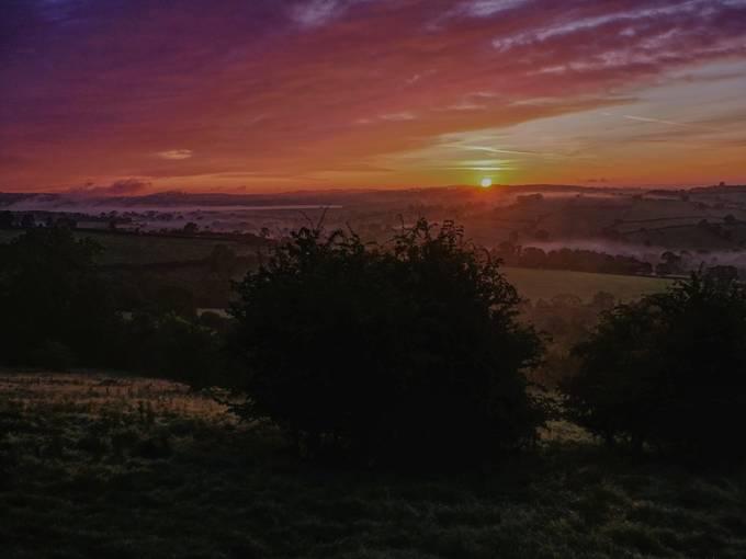 Derbyshire Sunrise near Ashbourne.