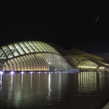 Ciutat de les Arts i les Ciències at night
