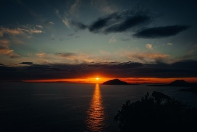 A Sunset for Gods at Sunion, Greece