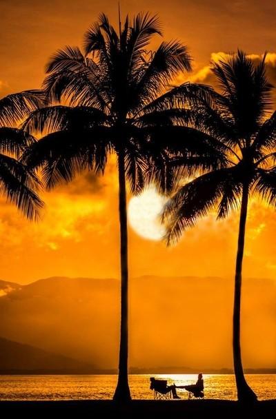 Australian Sunset at The Point, Port Douglas.