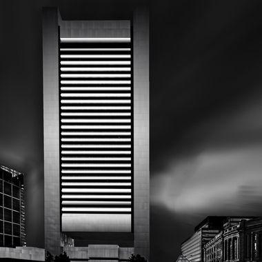 Metal panel tower