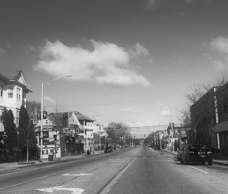 The busiest street in Providence, RI is now deserted. The restaurants, schools, mechanic shops, b...