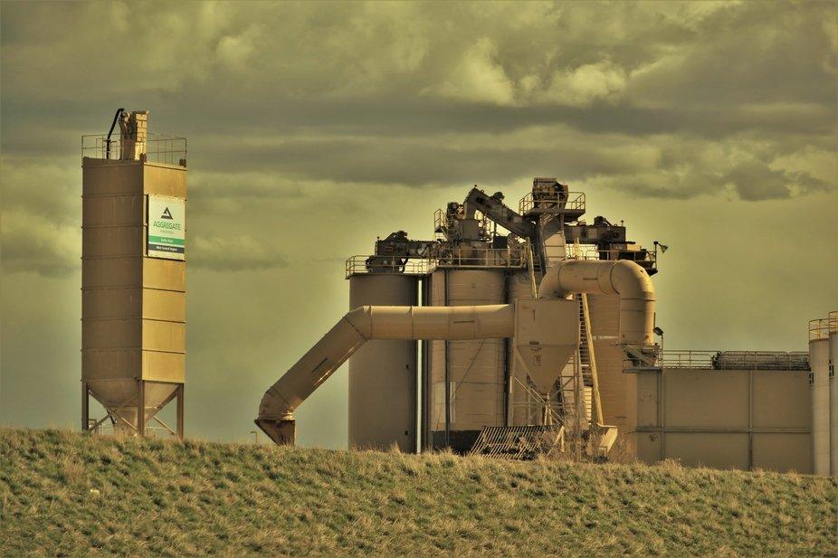 This  long abandoned processing plant awaits demolition along the I-70 corridor